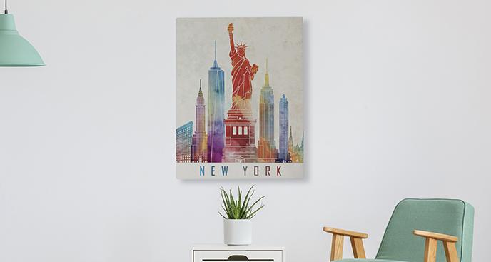 Abbildung von New Yorker Symbolen