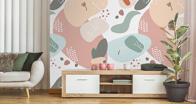 Abstrakte Fototapete für Wohnzimmer