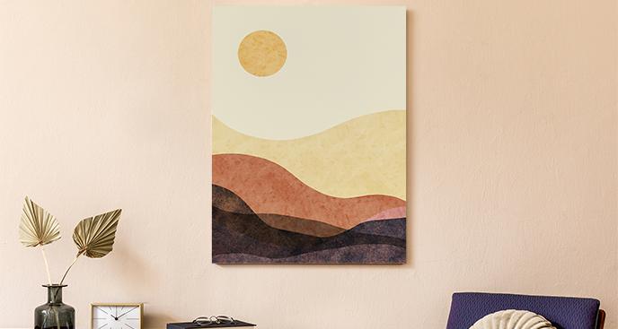 Abstraktes Bild mit Wüste