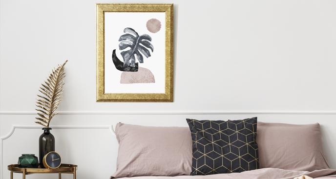 Abstraktes Plakat für Schlafzimmer
