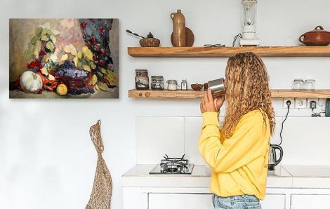 Aquarell-Bild für Küche