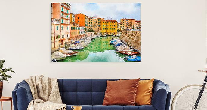Aquarellbild Toskana