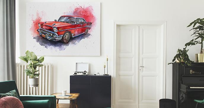 Auto-Bild fürs Wohnzimmer