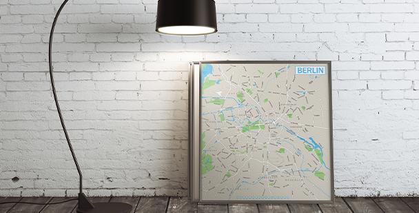 Berlin-Poster auf der Karte