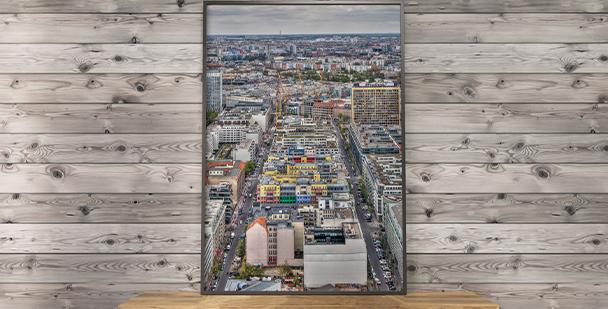 Berlin-Poster von oben