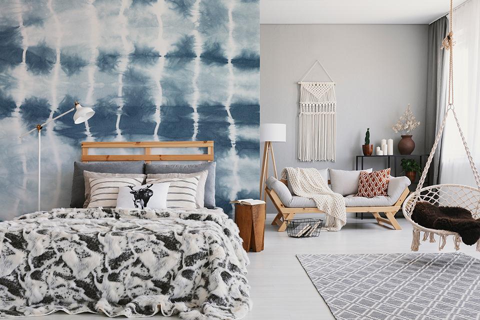 Fototapete inspiriert von Tie Dye im Boho-Stil