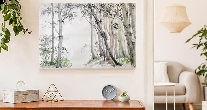 Bild Bäume in einem Bambuswald