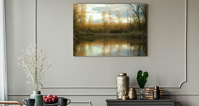 Bild Bäume und Teich