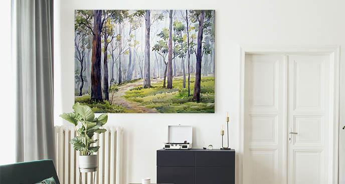 Bild Bäume und Waldweg