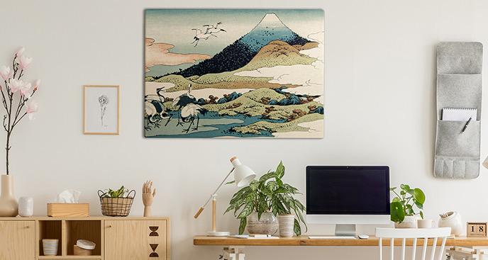 Bild Berge im Retro-Stil