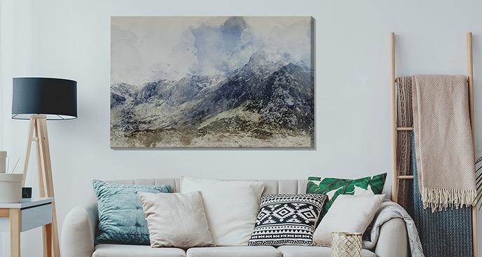 Bild Berge in Aquarell