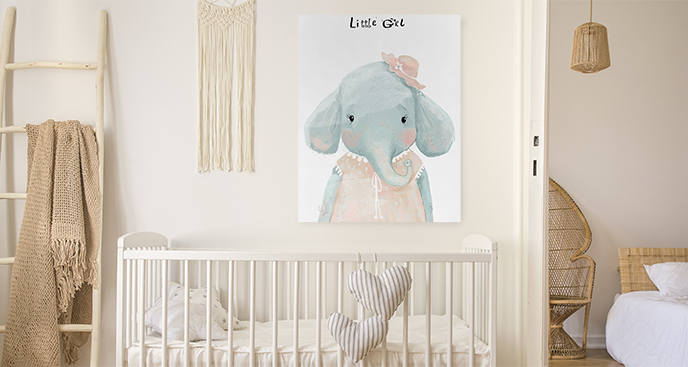 Bild Elefant für ein Kinderzimmer