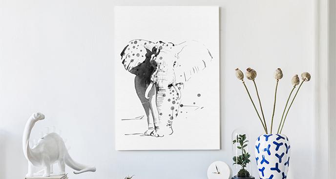 Bild Elefantenskizze