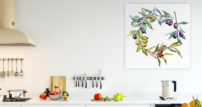 Bild für die Küche in Aquarellfarbe