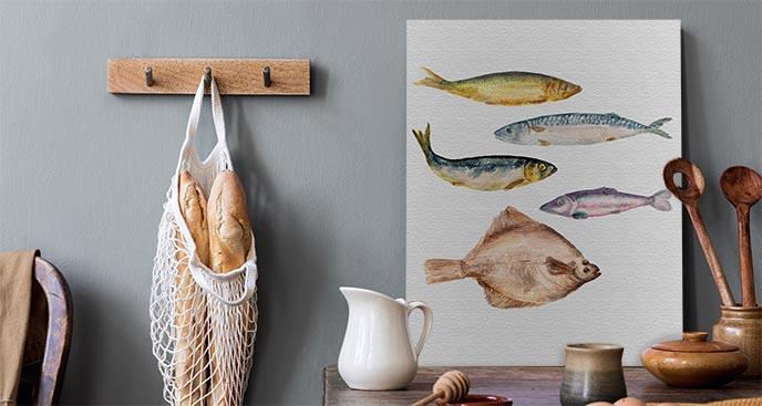Bild für die Küche mit Fisch