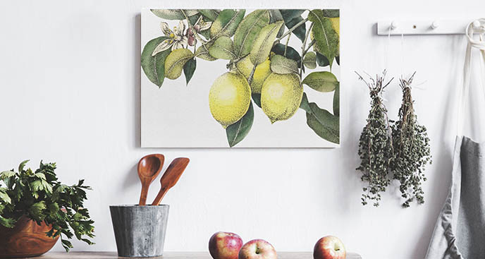 Bild für die Küche Retro