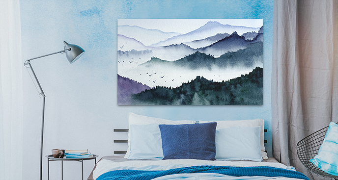 Bild fürs Schlafzimmer in Aquarell