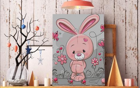 Bild für ein Kinderzimmer mit einem Kaninchen