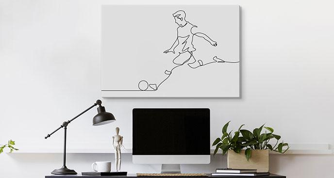 Bild Fußballspieler auf dem Spielfeld