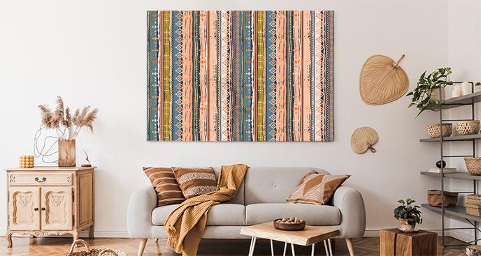 Bild im Boho-Stil fürs Wohnzimmer