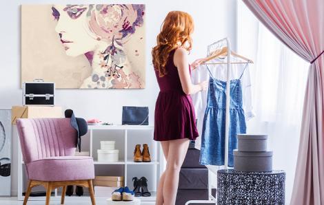 Bild in einem weiblichen Stil