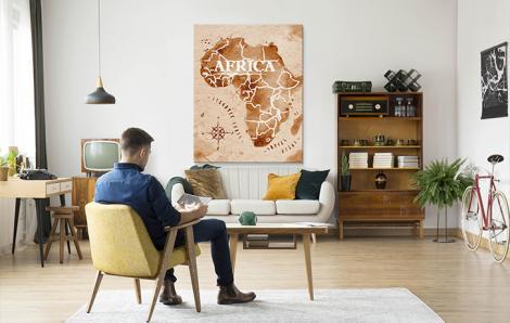 Bild Karte - Afrika