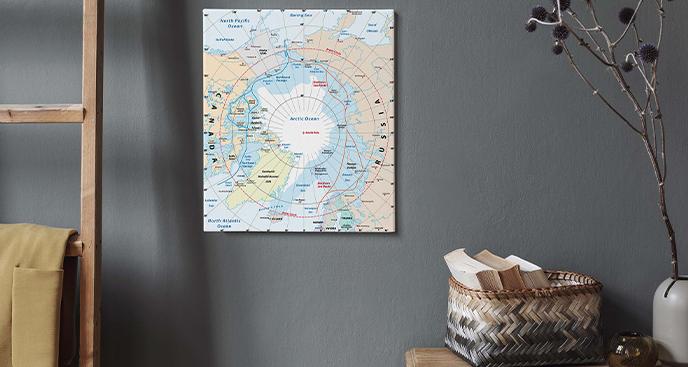 Bild Karte der arktischen Region