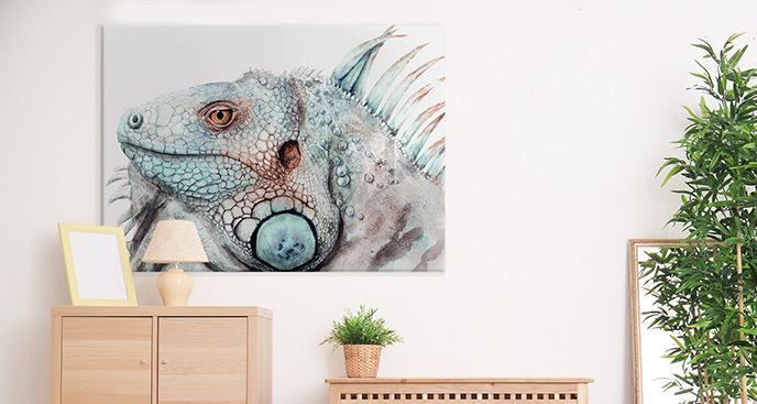 Bild Leguan in Aquarell