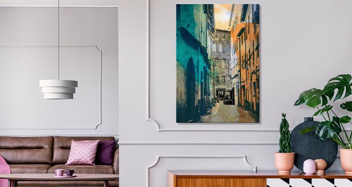 Bild mit Blick auf die Stadt Lucca