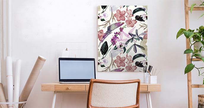 Bild mit einem Blumenmotiv