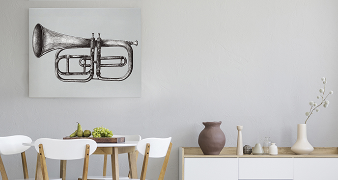 Bild mit einem Instrument für das Esszimmer