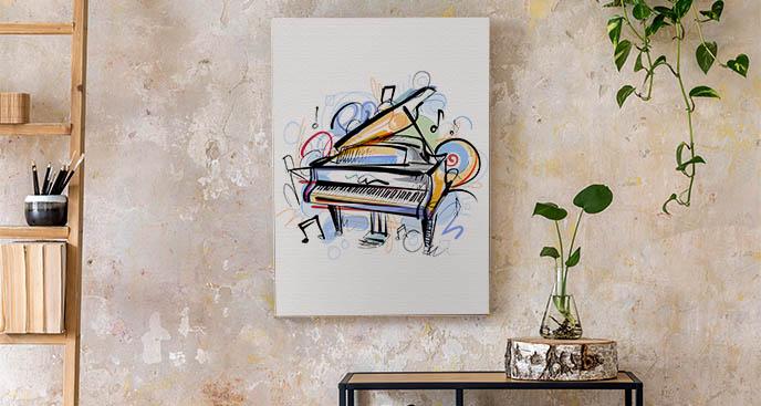 Bild mit einem spielenden Klavier