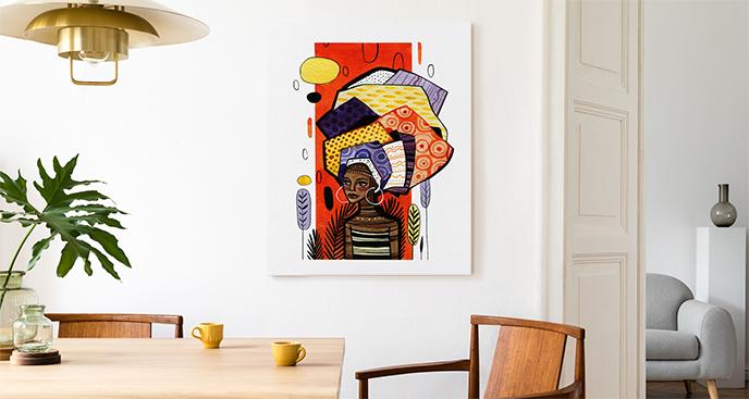 Bild mit farbenfroher Illustration