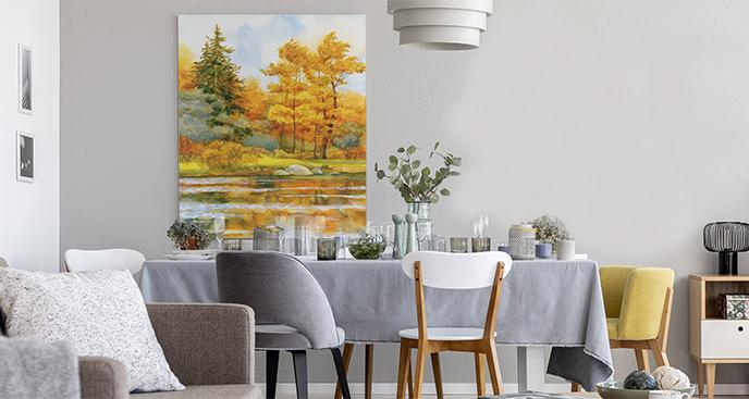 Bild mit Herbstlandschaft