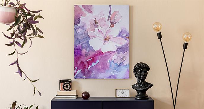 Bild mit violettem Muster