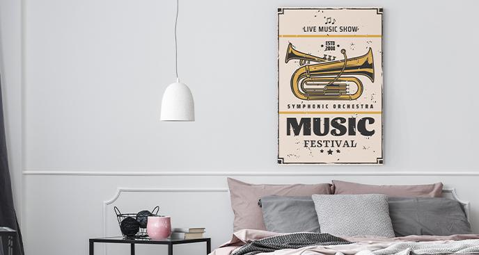 Bild Musik im Retro-Stil