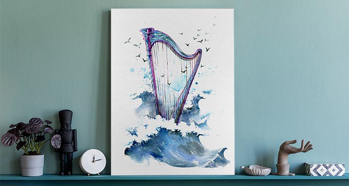 Bild Musik mit Meer-Thema