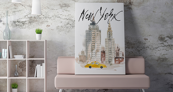 Bild New York Aquarell