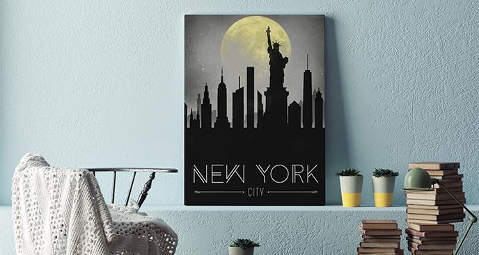 Bild New York bei Nacht
