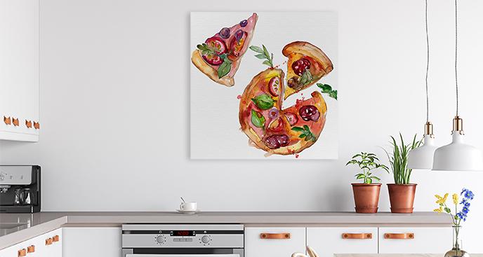 Bild Pizzastücke