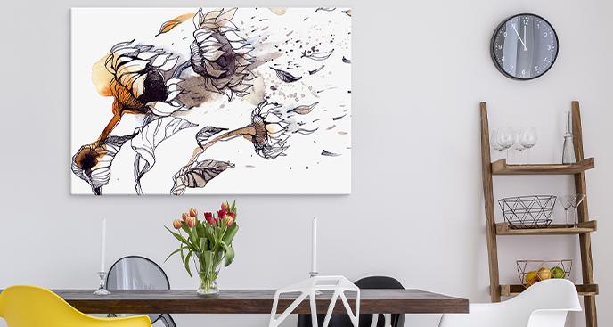Bild Sonnenblumen im Wind