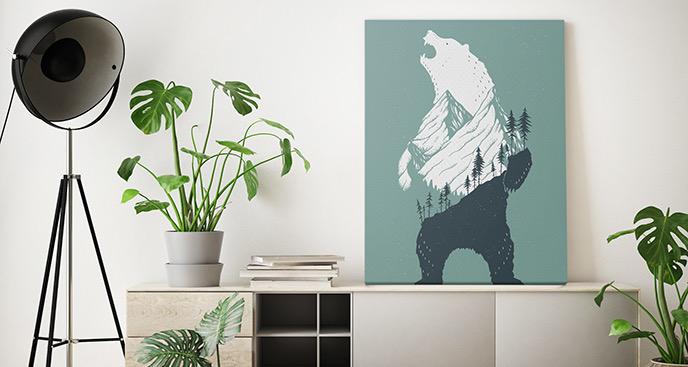 Bild Tiere und ein Bär