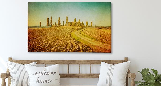 Bild Toskana in warmen Farbtönen