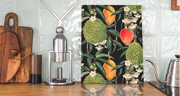 Bild von exotischen Früchten