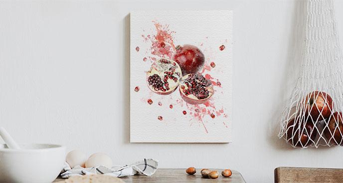 Bild von roten Granatapfelfrüchten
