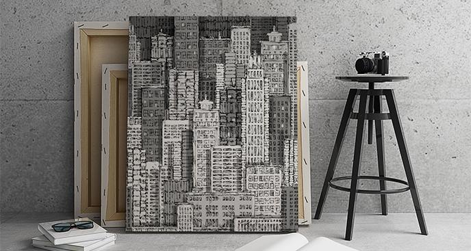 Bild von schwarz-weißen Wolkenkratzern