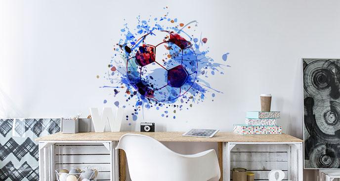 Blauer Sticker Fußball