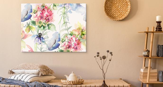 Blumenbild in Aquarell
