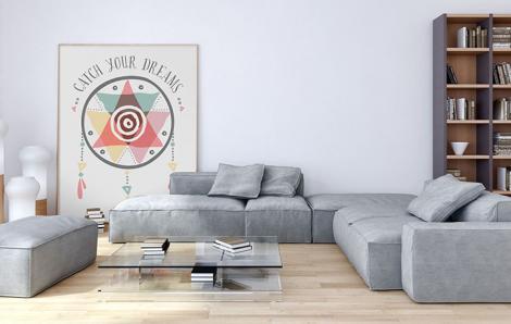 Buntes Plakat für das Wohnzimmer