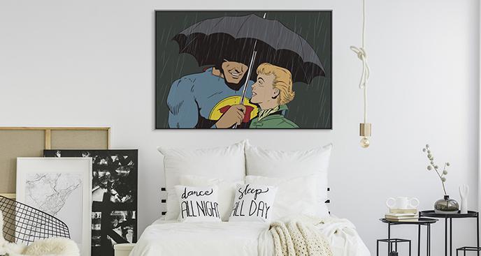 Comic-Superhelden-Poster